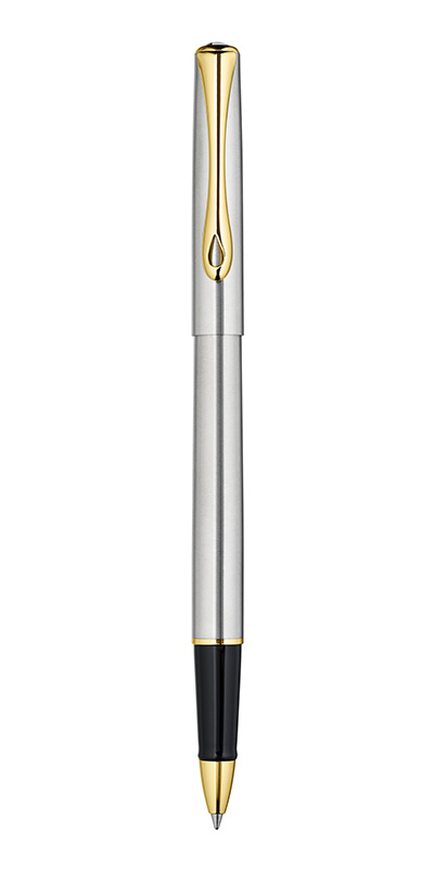 Ручка роллер DIPLOMAT Traveller Stainless Steel Gold
